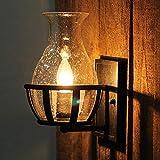 Wandlampen Glas Kreativ Industriell LED Lampenschirm Edison Metall E27 Innen Dekoration Nachttisch Beleuchtung Befestigung Schlafzimmer Balkon