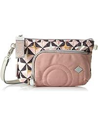 Oilily - Charm Geometrical Shoulderbag Shz 2, Shoppers y bolsos de hombro Mujer, Rosa (Rose), 2x15x25 cm (B x H T)