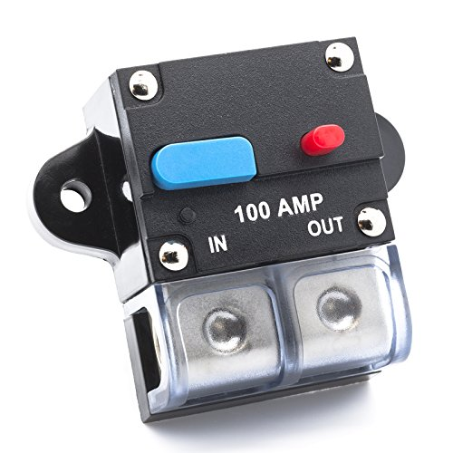 Adapter Universe 100 A Automatische Sicherung Automatik Schalter 12 V / 24 V Spritzwasserschutz für Auto Boot Motorrad usw 24 Volt 100 Amp