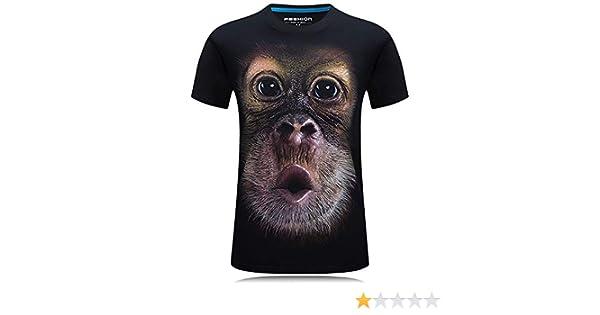 Gedruckte t AFFE digitalen 3D FENG Herrenbekleidung o-Neck Kurze /ärmel der t Shirt Shirt Homme gr/ö/ße The 6XL