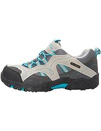 Mountain Warehouse Stampede Chaussures de Randonnée Enfants Fille Garçon Imperméable Suede Sportif Confort