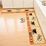 sheng Indeedshare Kitchen Rugs Rubber Backing Decorative Non-Slip Doormat Runner Area Entrance Mats Sets 3 Pieces ( Color : 1 , Size : 50*80+50*120+50*180cm )