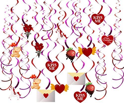 lentinstag Hängedeko Hängende Herzen Wirbel für Hochzeit, Valentinstag Party Dekoration Supplies Valentine's Day ()