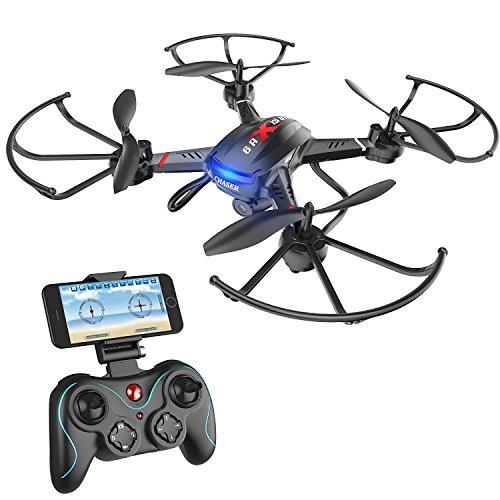 Holy Stone FPV F181W RC Drohne mit 720P HD Kamera,rc Helikopter Quadrocopter ferngesteuert mit Kamera live übertragung,APP,automatische Höhenhaltung und Lange Flugzeit für Anfänger und Kinder ab 8