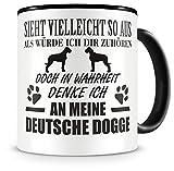 Samunshi Ich denke an meine Deutsche Dogge Hunde Tasse Kaffeetasse Teetasse Kaffeepott Kaffeebecher Becher