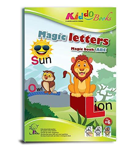 QuackDuck Malbuch Magic Letters - Zauber Buchstaben ABC - Magic Book ABC - Malbuch mit magischem Zauberpapier - Alphabet - Zauberblock für Kinder ab 6 Jahre - mit Buntem Sammelumschlag zum Einstecken