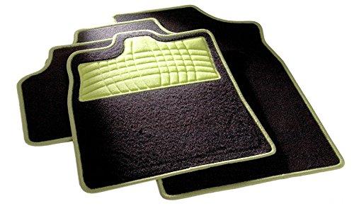 Preisvergleich Produktbild Festival Apfelgrün B02, Auto Fussmatte in schwarz, vorne und hinten, ohne Mattenhalter, für Mazda Xedos 9 , Baujahr 10/1993-10/2002