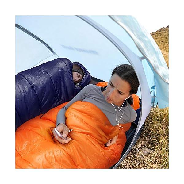 Bessport Mummy Sleeping Bag -10 Degree Celsius - 4 Season Backpacking Sleeping Bag for Adults & Kids – Lightweight Warm… 7
