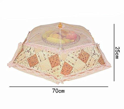 Wgwioo Couverture De Table Alimentaire Pop-Up Dentelle Maille Écran Réutilisables Et Parapluie Extérieur Pliable Écarter Les Mouches Moustiques Des Bugs 1