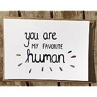 Karte - Freundschaft - Fernbeziehung - Lieblingsmensch - ich vermisse Dich - Favorite Human