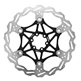 Tbest Fahrrad Scheibenbremse Bremsscheiben 160/180/203mm MTB Schwimmer Schwimmende Scheibenbremsen Rotorplatte Fahrrad Hydraulisch Set Rotoren mit T25 Schrauben(203mm-Schwarz)