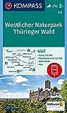 KOMPASS Wanderkarte Westlicher Naturpark Thüringer Wald: 4in1 Wanderkarte 1:50000 mit Aktiv Guide und Detailkarten inklusive Karte zur offline ... Langlaufen. (KOMPASS-Wanderkarten, Band 812) -