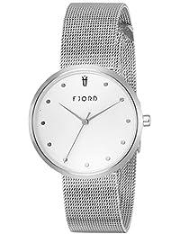 Fjord Analog White Dial Women's Watch- FJ-6035-022