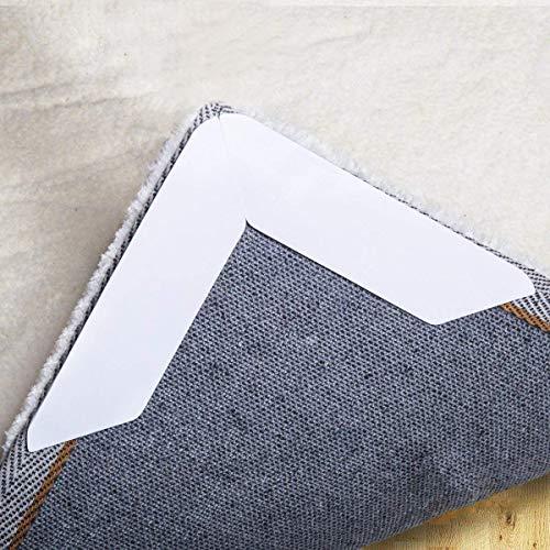 Anti Curling Teppich Greifer, rutschfeste Teppich Pad 8PCS für Bereich Teppiche Pad, doppelseitiges Klebeband für Indoor & Outdoor Teppich Matte (Anti-rutsch-teppich-pad 8x10)