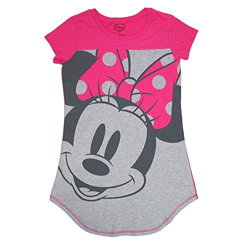 Bequeme Passform Pyjama (Disney Minnie Mouse Schlafshirt Nachthemd Gr. X-Large, Multi)