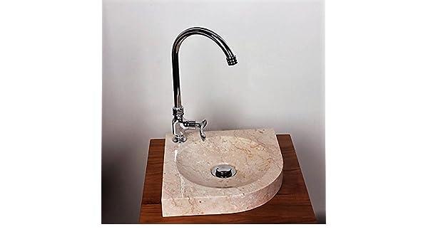 Sommerküche Waschbecken : Wohnfreuden marmor waschbecken samba mini 30 cm creme ✓ naturstein
