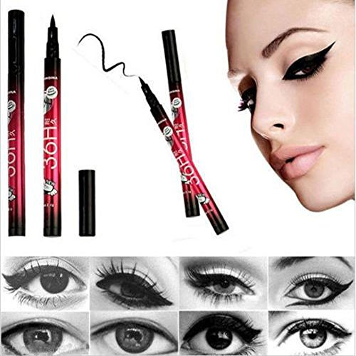 Gaddrt Schwarzer Eyeliner-Wasserdichter Flüssiger Make-Up Schönheits-Kosmetik-Eyeliner-Bleistift-Stift ()