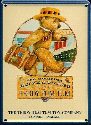 teddy-tum-tum-toy-company-mini-targa-latta-post-card-8-x-11-cm-nostalgia-retro-scudo-metal-tin-sign