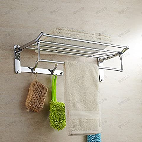 HanMei Cu ogni mensola da bagno in acciaio INOX, porta-asciugamano, With4Hook