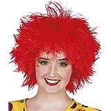 Peluca payaso roja mujer - Única
