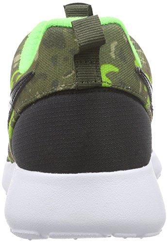 Nike Roshe One Print (gs), Sports en extérieur femme Noir / marron (noir / noir - kaki - vert impact)