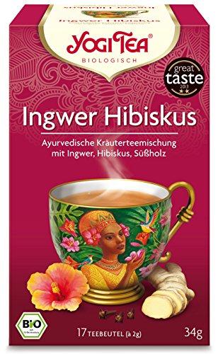 YOGI TEA Ingwer-Hibiskus-Tee im Beutel (34 g) - Bio