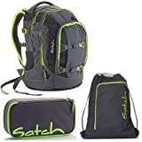 Satch Pack by Ergobag Phantom 3er Set Schulrucksack + Schlamperbox + Turnbeutel