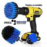 StillCool Drill Brush Cepillos para el Taladro, 3pcs Electric Drill Brush 2'3.5' 4'Cepillo eléctrico para Automóvil, Alfombra, Baño, Piso de madera, Cuarto de lavado, Cocina