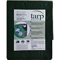 Kotap tgs-1824 Heavy-duty 12 da 12 tessitura croce 18-by-24 piede reversibile verde/argento 8-mil Poly Tarp - Argento Poly Tarp