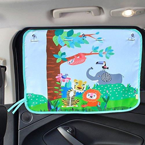 Tirzah Car Window Sun Shades - Universal Baby Car Sonnenschirme - Blöcke schädliche UV-Strahlen Sun Glare Heat (Tierreich) - Jalousie Mit Schritt Licht
