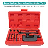 Docooler 13PCS Chain Cutter Rivet Tool Set Riveting Breaker ATV/Bike/Motorcycle/Cam Drive