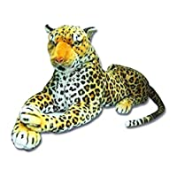 MTS Large Giant Wild Animal Leopard Soft Plush Stuffed Cuddly Toy 150cm