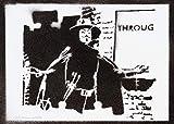 V Wie Vendetta Poster Plakat Handmade Graffiti Street Art - Artwork