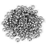 Skyllc® 3 x 200 versilberte Ösen aus Metall für Ledergürtel und Schuhe