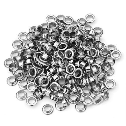 Skyllc 200 X argento placcato occhielli in metallo grommet per cinture e scarpe in pelle