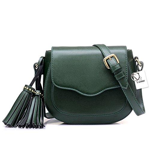 Borse Hobo in pelle elegante Yoome donna con borsa a tracolla borsa a tracolla nappe - Beige verde