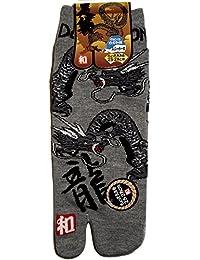 Japonmania - Chaussettes japonaises Tabi - Du 39 au 43 - Motif de dragons
