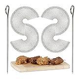 200 Rouladennadeln im Set, Spicknadeln aus Edelstahl, Fleischnadeln 11 cm, silber