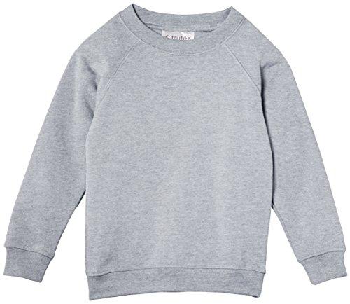 Trutex Unisex Crew Neck Sweatshirt, Marl Grey, 13 Years (Manufacturer Size: Small)