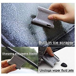 APMAX 3 in 1 Mini-Auto-Windschutzscheiben-Werkzeug (2 Stück) Eiskratzer-Klingen Schärfer Reiniger Scheibenwischerdüse Entstopfen Nadel-Wischer Genie