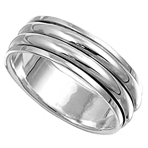 Sterling Silver Ring - Spinner - Size R 1/2