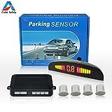 Auto Safety Einparkhilfe Parksensor Rückfahrhilfe Auto Parken Sensor System Mit Farb-Display 4 Sensoren Weiß