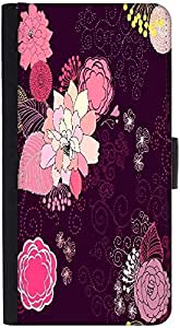 Snoogg Vector Flower Seamless Patterndesigner Protective Flip Case Cover For ...