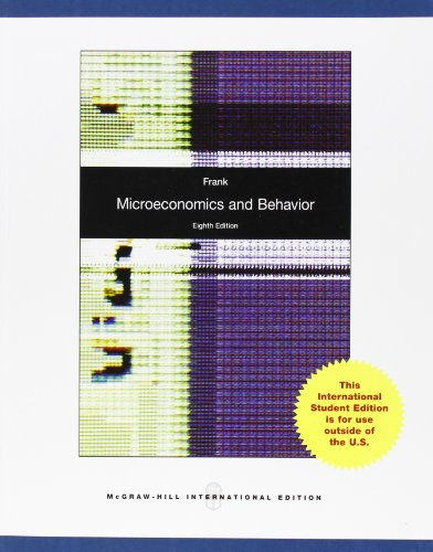 Microeconomics and Behavior por Robert H Frank
