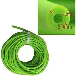 2x 5mm látex Natural banda para Slingshot Catapulta al aire libre Caza de repuesto 10metros, puede tener un conjunto, no un continuo, verde