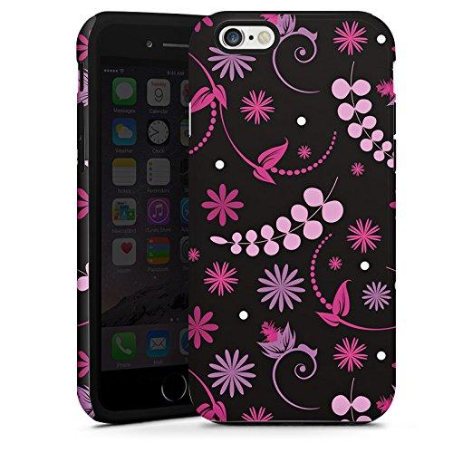 Apple iPhone 5s Housse Étui Protection Coque Petite fleur Fleurs Rose vif Cas Tough terne