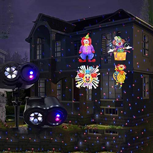 Weihnachtslicht, Bühnenscheinwerfer, ELD Lǎser Doppelrohr-Weihnachtslicht 12 Stück Muster-Karte Licht for Outdoor-Garten-Nachtlicht stage disco F1 -