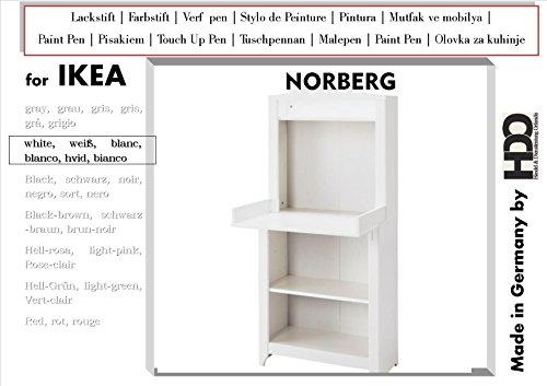 Lackstift Farbstift Touch-Up-Pen for IKEA Norberg white