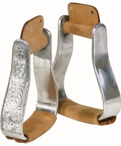 Pfiff 005094-70-Full - Estribos chapados en aluminio (caballos media sangre y pura sangre)