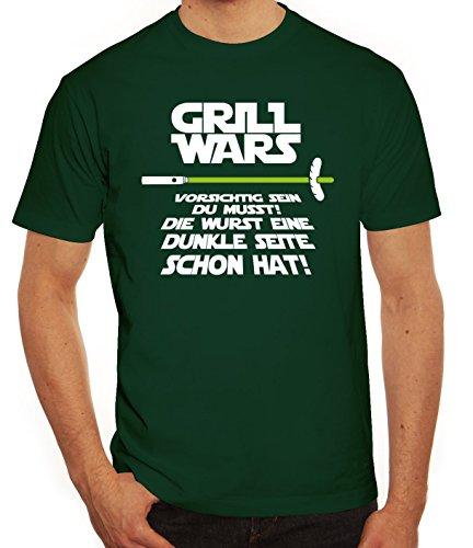 Grill Herren T-Shirt Grill Wars - Dunkle Seite, Größe: - Grill Tshirt Wars